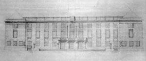 Projekt ratusza Bydgoszcz lata 40'XX wieku
