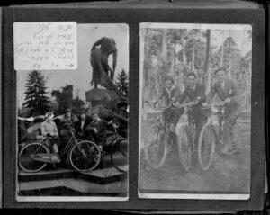 Stare zdjęcie przy fontannie Potop